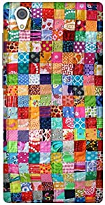 The Racoon Lean Colourful Quilt hard plastic printed back case / cover for Vivo Y51