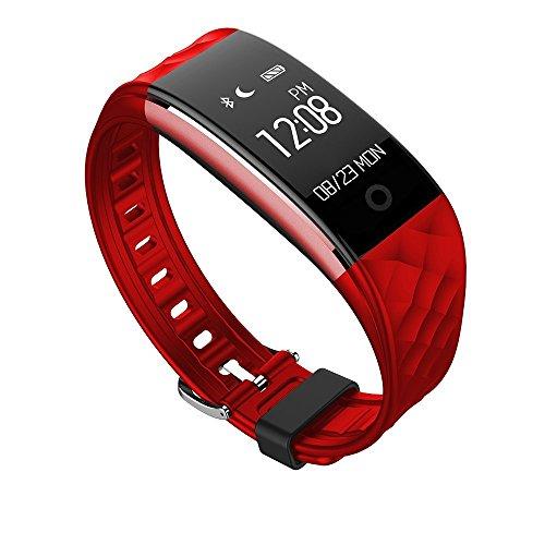 Wasserdichtes 0.96 Zoll Touchdisplay Bluetooth HR Messung Armband Fitness Aktivität Armbänder Uhr Tracker,Smartwatches Armbandes mit Herz/Puls-Monitor und Fahrrad-Reiten Modus Musikplayer-funktion