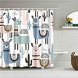 QXXKK ortina de duchamampara de baño con Gancho para habitación Infantil Cortinas de Ducha a Prueba de Moho Cortina de baño Decorativa para el hogar