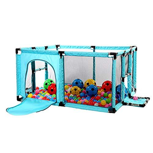 Parc pour Bébé avec Boîte De Tir pour Football, Parc De Sécurité pour Tout-Petits avec Porte, Anti-Collision Portatif pour Enfants Play Yard