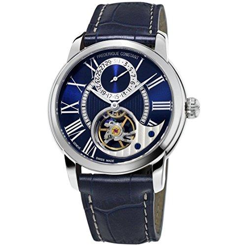 Frederique Constant Heart Beat Homme 42mm Bracelet Cuir Bleu Saphire Automatique Montre FC-941NS4H6