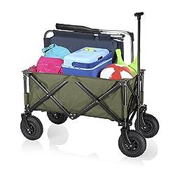 Campart Gartenkarre CamPart HC-0915 Faltbarer Trolley, Grün, L, HC-0915