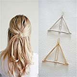 Stayeal Women's Hollow Triangle Geometric Metal Hairpin Hair Clip Clamps Accessories Styling Jewelry