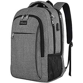 c6ed7e885c41 MATEIN Mens Anti-Theft Waterproof Travel Laptop Backpack with USB Charging  Port Fits 15.6 Inch