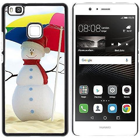 Huawei P9 Lite / G9 Lite (Not for P9)Huawei P9 Lite / Huawei G9 Lite (Not for P9) , Cassa Cover Guscio Di Plastica (Estate del pupazzo di neve)