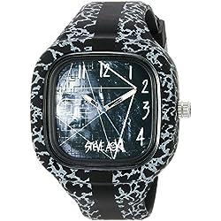 Steve Aoki Men's SA 2001 BK Analog Display Japanese Quartz Black Watch