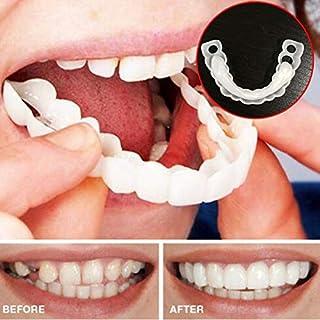 GLEYDY Zähne Prothese Perfect Smile Snap-On Braces Instant Perfekte Smile Comfort Fit Flex Zähne Veneers Einheitsgröße Bequemes Deck- Und Bodenfurnier