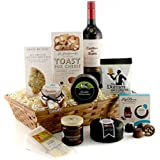 Cheese and Wine Gift Basket - Cheese Lover's Luxury Hamper - Available for Next Day Delivery Ideal Birthday or Thank You Gift