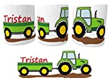 Spardose Traktor Trecker mit Wunschname Personalisiert   Sparbüchse für Kleine Landwirte   Sparstrumpf   Taschengeld Sparen I Kinder