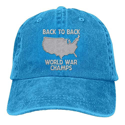 MN.NM4554 Men's Jeans Dad Caps - Back-to-Back World War Champs (Pokemon World Champs)