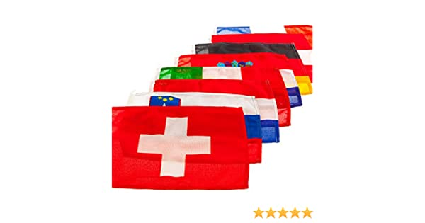 MARE MOSSO Gastlandflagge nautische Flagge Bootsflagge Länderflagge Fahne, Land:Schweiz;Maße:70 x 100 cm