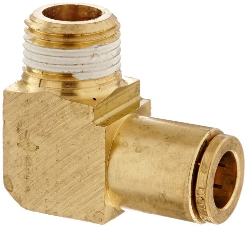 Eaton Weatherhead 1869X6X6 Brass CA360 D.O.T. Air Brake Tube Fitting, 90 Degree Elbow, 3/8 NPT Male x Tube OD by Weatherhead -