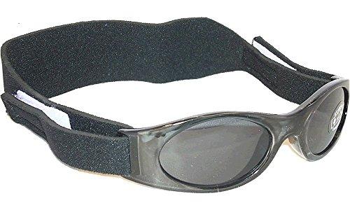 Sonnenbrille für Babys unter 2 Jahren - Sunnyz - Mit Kopfband! schwarz