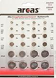 Arcas 12792400 AG Alkaline CR Lithium Knopfzellenset, 24 teilig