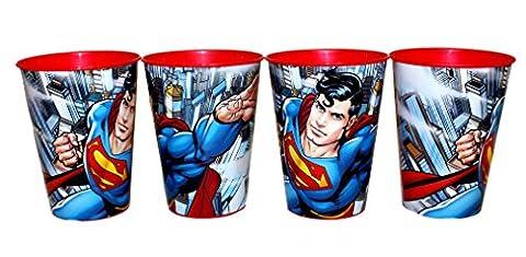 4 Stück DC Comic Superman Trinkbecher Saftbecher Becher Set