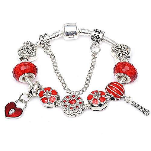 013a02e1ec51 GSYDSZ Perlas auténticas del corazón del Amor Plateado Plata Pulsera  Original del Encanto para Las Mujeres