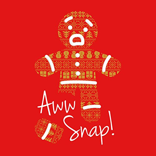 Gingerbread Man Aww Snap Christmas Men's Vest Red