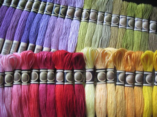 Full Set von 447Farben Garnknäuel der Baumwolle Kreuzstich Floss Fäden