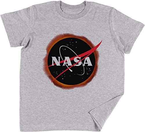 NASA Solar Eclipse Niños Chicos Chicas Unisexo Camiseta Gris