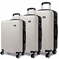 Kono Luggage Suitcase Hard Shell 4 Wheel Spinner Holiday Travel Business Trip Trolley Case 20