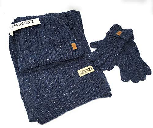 Conjunto guantes, bufanda gorro mujer. Set 3 piezas