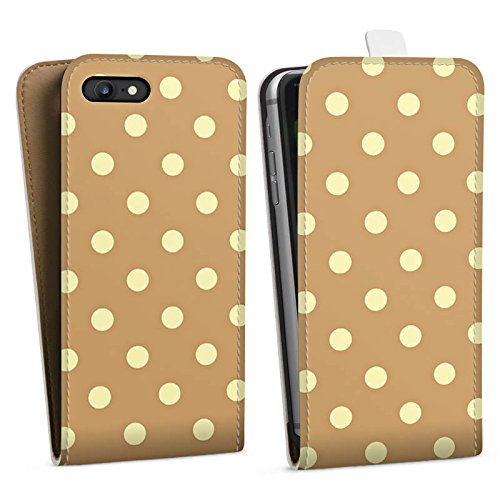 Apple iPhone X Silikon Hülle Case Schutzhülle Punkte Muster Polka Downflip Tasche weiß