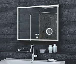 fineline badezimmer spiegel led beleuchtung 192 led und 50 led f r kosmetik spiegel aluminium. Black Bedroom Furniture Sets. Home Design Ideas
