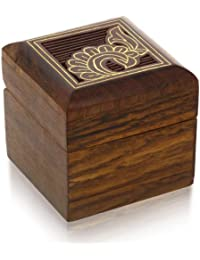 Wooden Box for Jewelry Indian - Wood Trinket Box - Perfect for Rings, Earrings, Toe Rings & Cuff Links