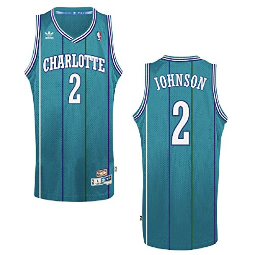 Larry Johnson Charlotte Hornets Adidas NBA Throwback Swingman Jersey Trikot - Teal