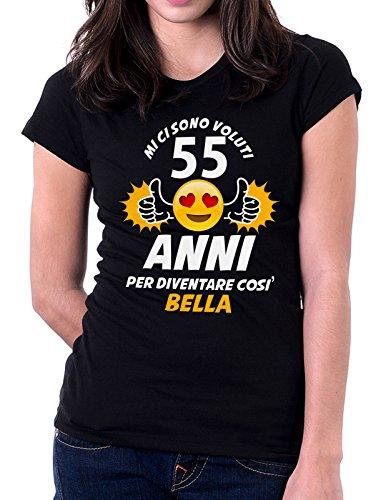 Tshirt compleanno Mi ci sono voluti 55 anni per diventare così bella - eventi - idea regalo - compleanno - Tutte le taglie Nero