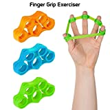 Fitsy Silicone Finger Stretcher Hand Gripper Exerciser for Guitar Playing, Musicians, Sports and Therapy - Pack of 3