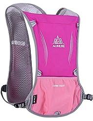 AONIJIE 5Sistema de hidratación de mochilas para equitación, ciclismo, senderismo, running, viajes y escalada, rojo