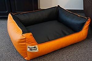 Hundebettenmanufaktur Panier pour chien en cuir couleur et taille au choix de XS à XXL