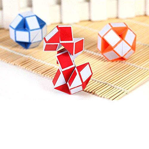 youpin 3Magic Classic Schlange Form Cube Puzzle, faltbar 3D Cube Geschenk Spielzeug Spiel Twist Füße für Jungen Mädchen Kinder Kinder Kinder Puzzle beliebtesten Geschenk Geburtstag geeignet für Kinder ab 3+ (zufällige Farbe)