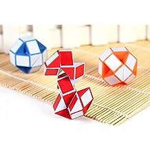 Youpin 3 piezas magia clásico serpiente forma puzle, plegable 3D cubo de juego mysticals pies de torsión para niños mamamemo Childs niños Jigsaw völuspá chica Popular edad 3 + regalo cumpleaños adecuado (color al azar)