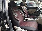 Sitzbezüge k-maniac | Universal schwarz-rot | Autositzbezüge Set Komplett | Autozubehör Innenraum | Auto Zubehör für Frauen und Männer | NO2120918 | Kfz Tuning | Sitzbezug | Sitzschoner