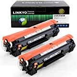 LINKYO Compatible Toner Cartridge Replacement for HP 83A CF283A (Black, 2 Pack)