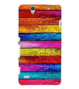 EPICCASE Colorful wood logs Mobile Back Case Cover For Sony Xperia C4 (Designer Case)