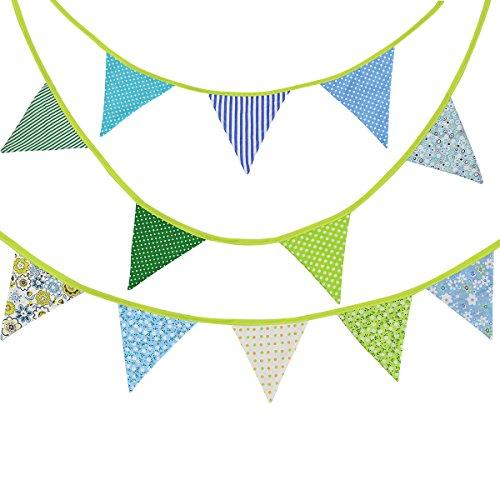 Applikation 10Meter grün Party Wimpelkette Triangle Flagge Banner Dekoration für Hochzeit Geburtstag Party Zeremonie