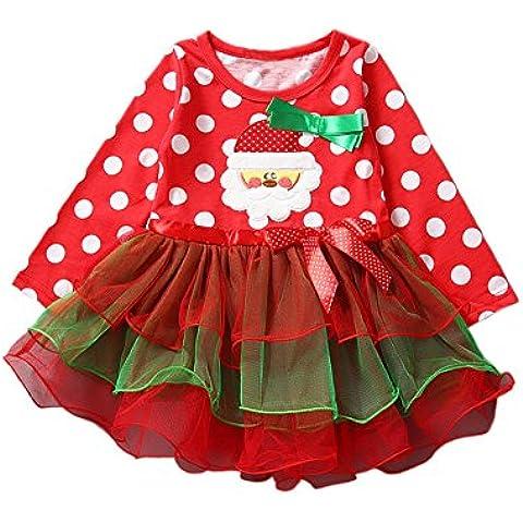 Navidad Traje Vestido con larga manga Arco para niño bebé