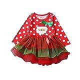 Weihnachten Kleid Mädchen Rock Garn Tutu mit Schleife als niedlich Weihnachtsgeschenk für Mädchen 1-5 Jahre (90(1-2Jahre))