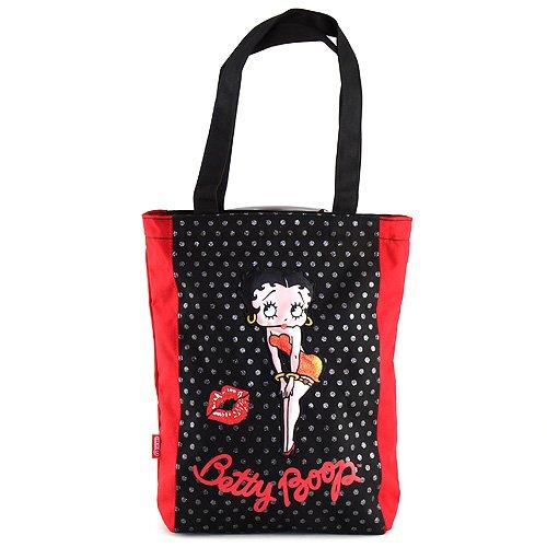 Target Shopping Bag Betty Boop Strandtasche, 30 cm, Schwarz (Nero)