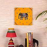 Kalaplanet Wooden Wall Clock - Elephant