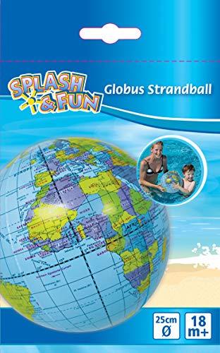 VEDES Großhandel GmbH - Ware Splash & Fun pelota de playa Globo Terráqueo, diámetro de 25cm