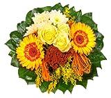 Amazon.de Pflanzenservice Blumenstrauß'Sonnenschein' mit gelben Rosen