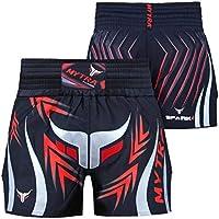 Mytra Fusion Pro - Pantalones cortos de boxeo para fitness y gimnasio