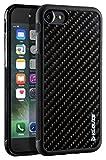 Klouze iPhone 7 Carbon Hülle - Schwarzes Premium-Case aus Karbon-Faser - Strong Case Perfekte Schutzhülle (iPhone 8)
