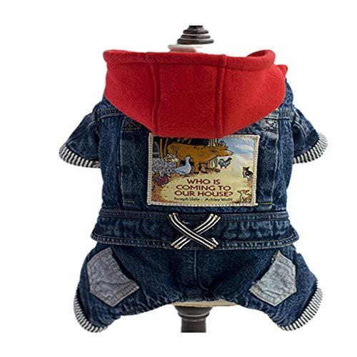PURIN PLAN Weihnachtshundkostüm für Hunde und Hunde, roter Reitkapuze, 4-beinige Jeans, Cowboy-Kostüm für Hunde, Prinzessinnenkostüm, Hund