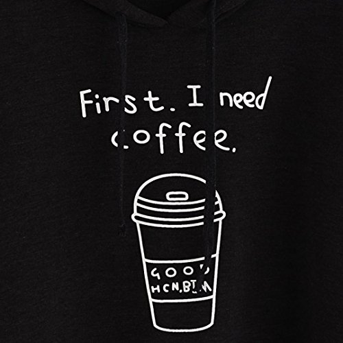 Vovotrade Sweatshirt Femme Pullovers Manches Longue Lettre Imprimé Noire Chauve-souris Manches Noir