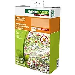 Windhager Kirschessigfliegen-Netz Schutz vor Insekten und Vögel für Obstbäume, weiß, 4 x 5 m, 06778